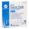 "GAUZE PADS, STERILE, 3""X3"", 10/BOX"