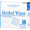 ALCOHOL WIPES, 50 per dispenser box
