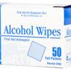 ALCOHOL WIPES, 50 per dispenser box