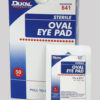 EYE PAD, OVAL, 50/BOX