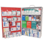 First Aid Station, ANSI 2015 Class A, 4 Shelf, Stocked